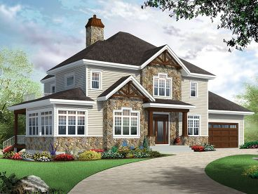 Two-Story Home Plan, 027H-0448