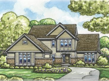 Two-Story House Plan, 031H-0341
