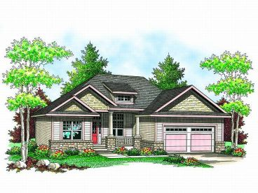 Craftsman Home Plan, 020H-0152
