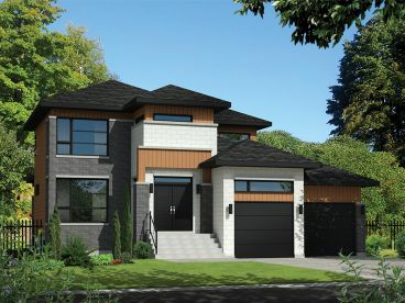Contemporary House Plan, 072H-0138