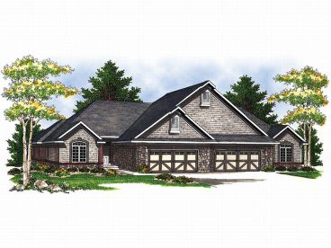 Multi-Family House Plan, 020M-0018