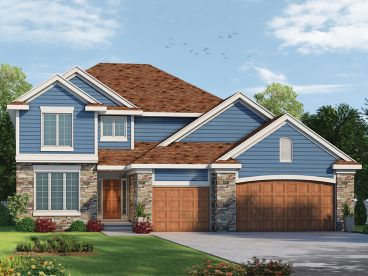 Two-Story House Plan, 031H-0300