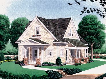Cottage Home Plan, 054H-0014