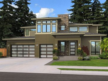 Modern Luxury Home, 035H-0142