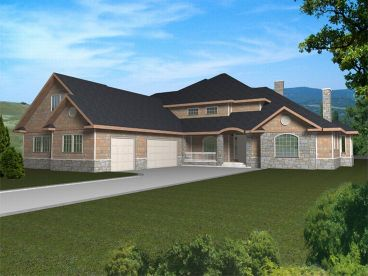 Two-Story House Plan, 012H-0014