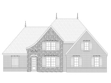 European House Plan, 062H-0005