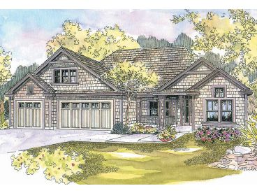 Ranch House Plan, 051H-0130