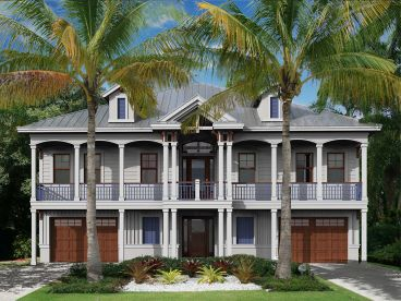 Southern Coastal House Plan, 037H-0254