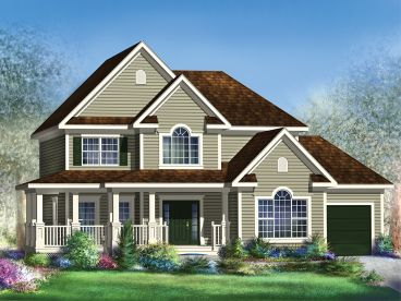 Country Traditional House Plan, 072H-0158