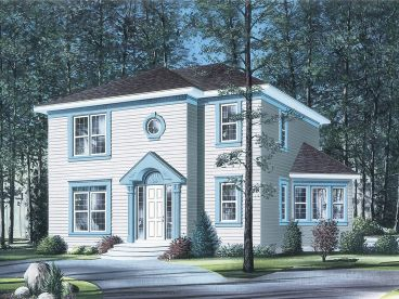 2-Story Home Plan, 027H-0173