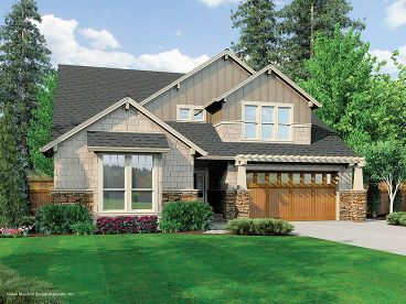 Arts & Crafts House Plan, 034H-0039