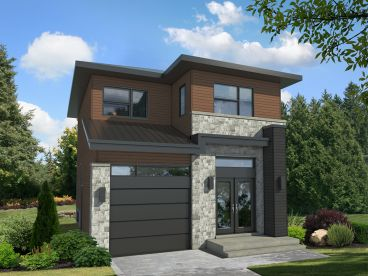 Narrow Lot House Plan, 072H-0261