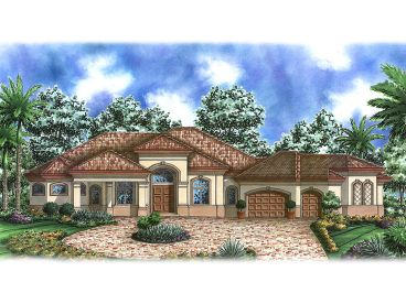 Mediterranean Home Plan, 037H-0099