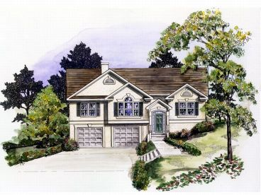 Split-Level House Plan, 019H-0117