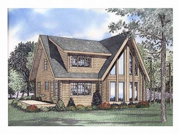 Waterfront Log Home, 025L-0048