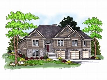 Split-Level Home Plan, 020H-0096