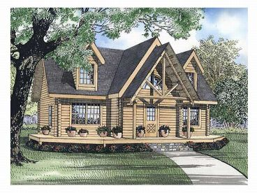 Log Home Plan, 025L-0036