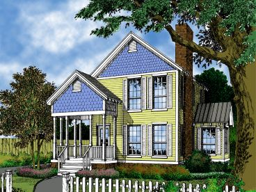 Cottage House Plan, 043H-0002