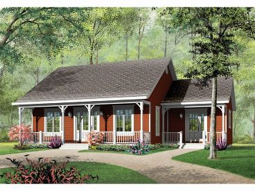 Cottage House Plan, 027H-0001