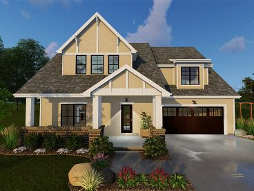 Tudor House Plan, 050H-0094