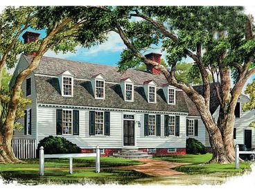 Cape Cod House Plan, 063H-0128