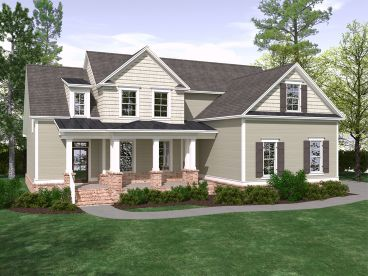 Two-Story House Plan, 080H-0011