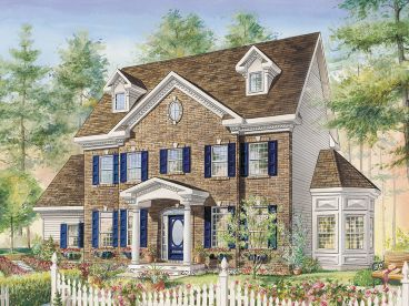 Colonial House Plan, 072H-0236