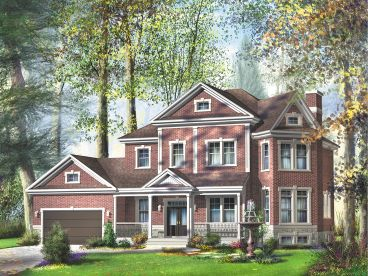 Two-Story House Plan, 072H-0115