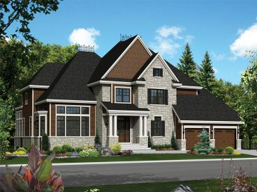 Luxury European House Plan, 072H-0148