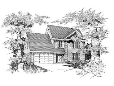 Two-Story Home Plan, 061H-0042