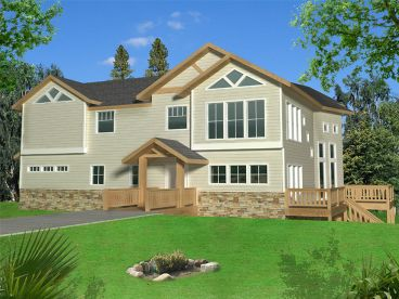 Unique Waterfront House Plan, 012H-0186