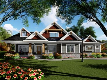 Craftsman House Plan, 020H-0440