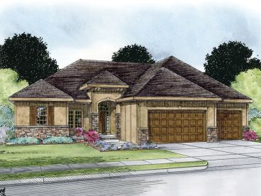 European House Plan, 031H-0240