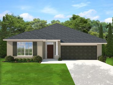 Ranch House Plan, 064H-0118