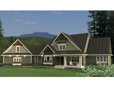 Craftsman House Plan, 023H-0167