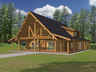 Northwestern Log Home, 012L-0045