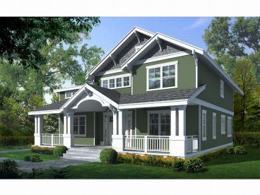 Country Craftsman Home, 026H-0110