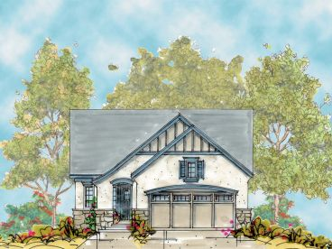 Narrow Lot House Plan, 031H-0212