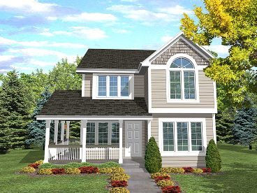 Narrow Lot Home Design, 016H-0004