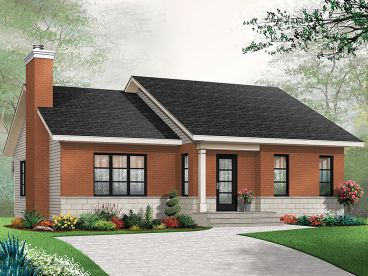 Empty-Nester House Plan, 027H-0422