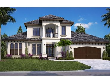 Luxury Sunbelt House Plan, 037H-0252