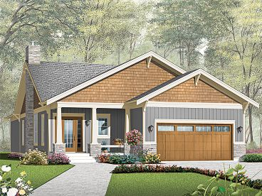 Narrow Lot House Plan, 027H-0249