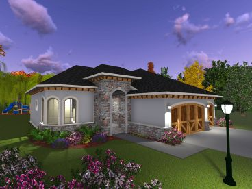 Sunbelt House Plan, 020H-0390