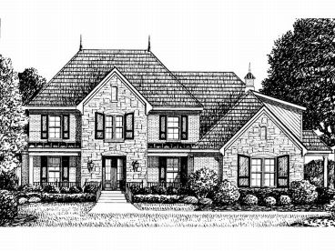 European House Plan, 011H-0040