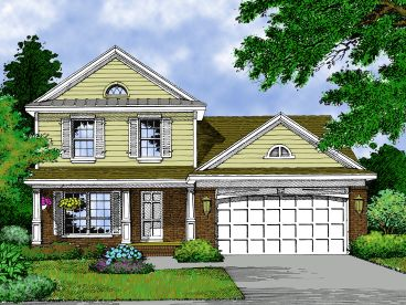Two-Story Home Plan, 043H-0034