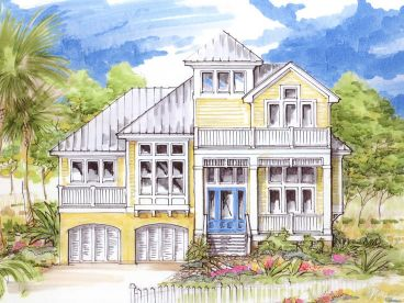 Coastal House Plan, 041H-0114