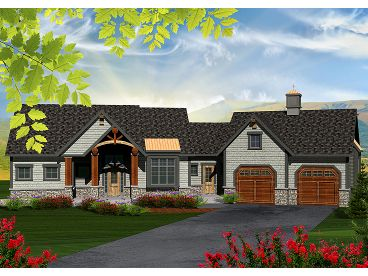 Mountain Home Plan, 020H-0351