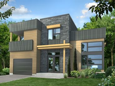 Contemporary House Plan, 072H-0227