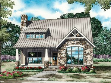 Narrow Lot House Plan, 025H-0314