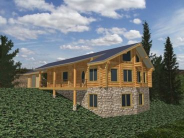 Log House Plan, 012L-0056